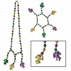 Mardi Gras Beads Choker and Bracelet Set