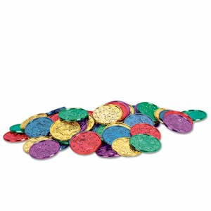 Purple Green and Gold Mardi Gras Coins