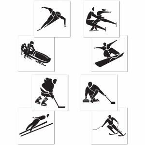 Winter Sport Cutouts