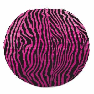 Zebra Printed Lantern Set