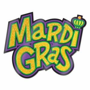Glittered Mardi Gras Sign