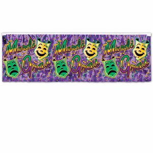 Comedy and Tragedy Mardi Gras Banner