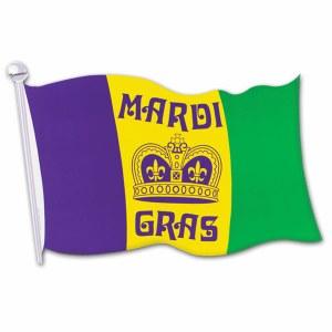 MArdi Gras Flag Cutout