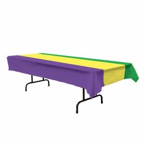 Mardi Gras Plastic Tablecover