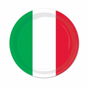 Red White and Green 9in Plate