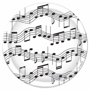 Musical Note 7in Plate