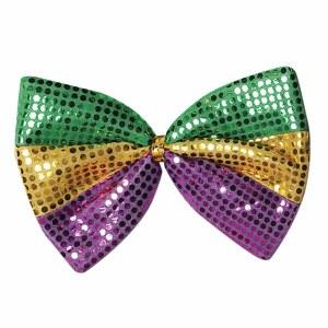 Jumbo Mardi Gras Glitz N Gleam Bow Tie