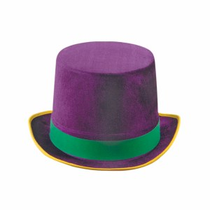 Mardi Gras Vel Felt Top Hat