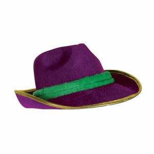 Purple Vel- Felt Fedora