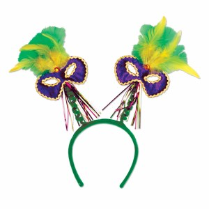 Feathered Mardi Gras Boppers