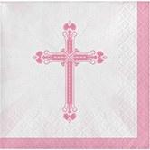 Blessings Pink Beverage Napkin CASE (360 Napkins)