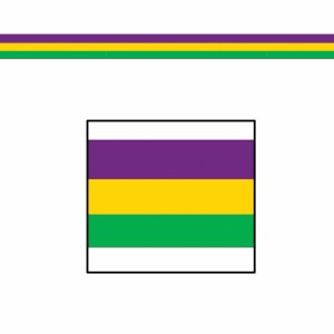 Purple Green and Gold Poly Decorating Material