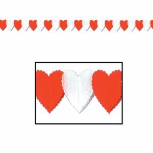 RED WHT HEART GARLAND