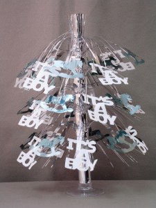 Its a Boy Cascade Centerpiece