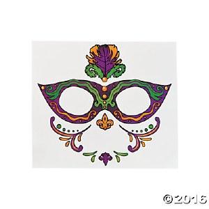Mardi Gras Face Tattoo