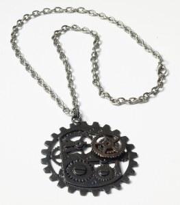 Steam Punk Gear Necklace