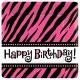 Hot Pink Zebra Stripes Plates
