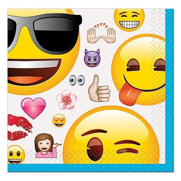 16 Emoji Beverage Napkin 50600 Unique Party Unlimited Supplies
