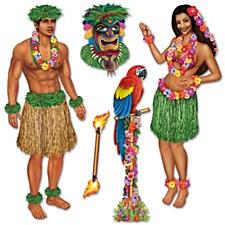Hula Girl & Polynesian Guy Props