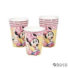 Minnie 1st B-day Cups