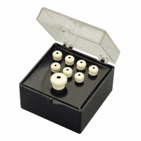 Fender Bridge Pin Set Ivory with Black Dot