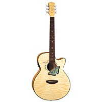 Luna Fauna Butterfly Acoustic Electric Guitar