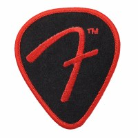 Fender F Pick Patch Black and Red