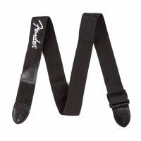 Fender Black Polyester Strap With White Fender Logo