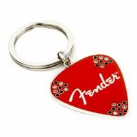 Fender Red Pick Keychain