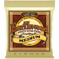 Erine Ball Earthwood Medium 80/20 Bronze Acoustic Guitar Strings - 13-56 Gauge