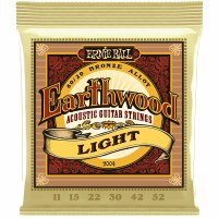 Erine Ball Earthwood Light 80/20 Bronze Acoustic Guitar Strings - 11-52 Gauge