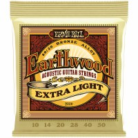 Erine Ball Earthwood Extra Light 80/20 Bronze Acoustic Guitar Strings - 10-50 Gauge