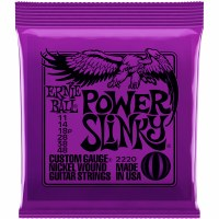 Erine Ball Skinny Top Power Slinky Nickel Wound Electric Guitar Strings - 11-48 Gauge