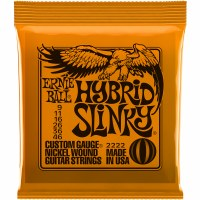 Erine Ball  Hybrid Slinky Nickel Wound Electric Guitar Strings - 9-46 Gauge