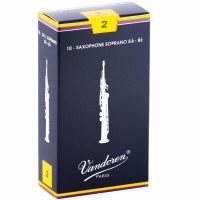 Vandoren 10 Pack Soprano Saxophone Reeds Size #2 (SR202)