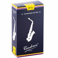 Vandoren 10 Pack Alto Saxophone Reeds Size #3.5 (SR2135)