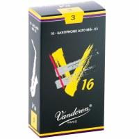 Vandoren 10 Pack V16 Alto Saxophone Reeds Size #3 (SR703)
