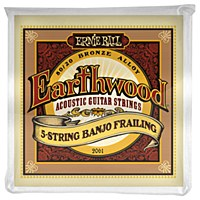 Erine Ball Earthwood 5-String Banjo Frailing Loop End 80/20 Bronze Acoustic Guitar Strings - 10-24 Gauge