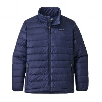 Boys' Down Sweater Navy Small