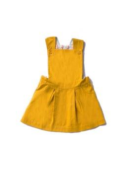 Pinafore Dress Gold 3-4Y