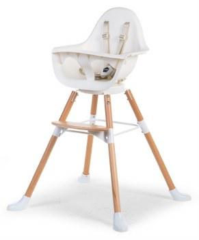 Evolu One.80 High Chair Beech + White