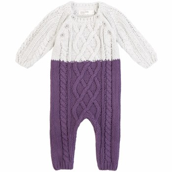 Knit Playsuit Purple 3m
