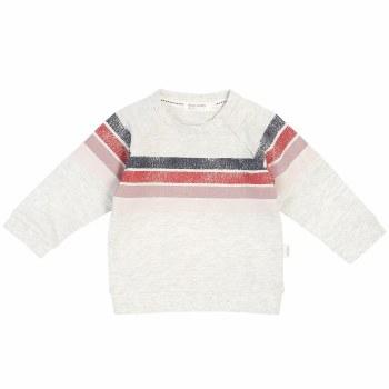 Alpine Pink Stripe Sweatshirt 4T