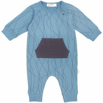 Knit Playsuit Alpine Blue 6m