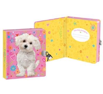 Lock & Key Diary Doodle Dog