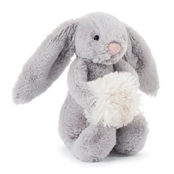 Bashful Grey Snow Bunny Small