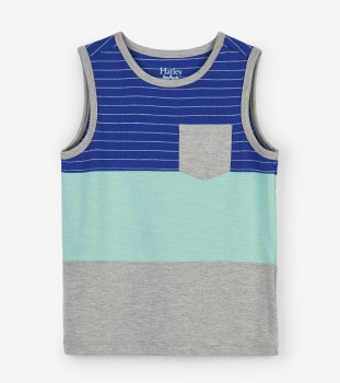 Color Block Pocket Tank 2