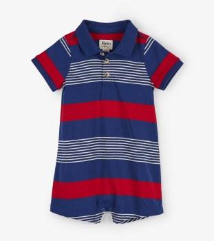 Navy Stripes Baby Romper 18-24