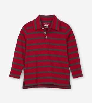 L/S Polo Red Stripe 4
