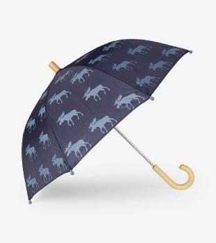 Umbrella Moose Silhouettes